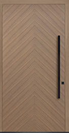 Custom Pivot Front  Door Example, Oak Wood Veneer-Light-Loft DB-PVT-715 48x96