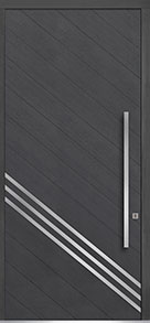 Custom Pivot Front  Door Example, Oak Wood Veneer-Gray-Oak DB-PVT-716A 48x108