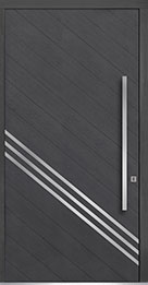 Custom Pivot Front  Door Example, Oak Wood Veneer-Gray-Oak DB-PVT-716A 48x96