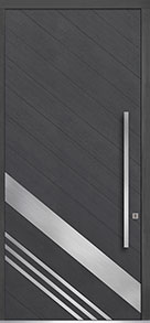 Custom Pivot Front  Door Example, Oak Wood Veneer-Gray-Oak DB-PVT-716B 48x108