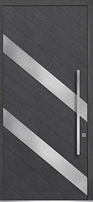 Custom Pivot Front  Door Example, Oak Wood Veneer-Gray-Oak DB-PVT-716C 48x108