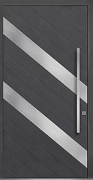 Custom Pivot Front  Door Example, Oak-Wood-Veneer-Gray-Oak DB-PVT-716C 48x96