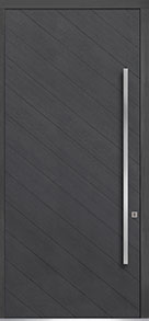 Custom Pivot Front  Door Example, Oak Wood Veneer-Gray-Oak DB-PVT-716 48x108