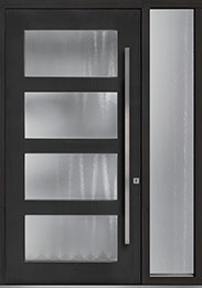 Custom Pivot Front  Door Example, Mahogany-Coffee-Bean DB-PVT-823 1SL18 48x96
