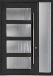 Custom Pivot Front  Door Example, Mahogany-Coffee-Bean DB-PVT-823 1SL18 48x96