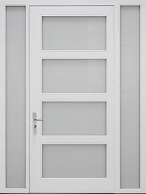 Custom Pivot Front  Door Example, Oak Wood Veneer-Gray-Oak DB-PVT-823 2SL16 CST