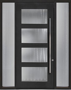 Custom Pivot Front  Door Example, Mahogany-Coffee-Bean DB-PVT-823 2SL18 48x108