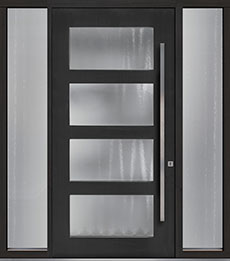 Custom Pivot Front  Door Example, Mahogany-Coffee-Bean DB-PVT-823 2SL18 48x96