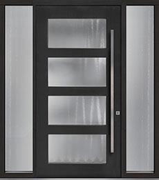 Custom Pivot Front  Door Example, Mahogany-Coffee-Bean DB-PVT-823 2SL18 48x96