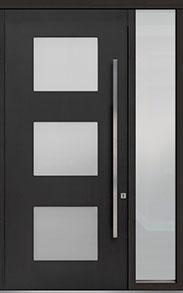 Custom Pivot Front  Door Example, Mahogany-Coffee-Bean DB-PVT-824 1SL18 48x108