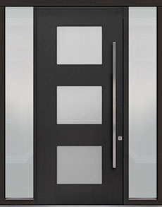 Custom Pivot Front  Door Example, Mahogany-Coffee-Bean DB-PVT-824 2SL18 48x108