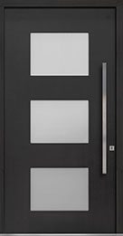 Custom Pivot Front  Door Example, Mahogany-Coffee-Bean DB-PVT-824 48x96