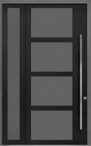 Custom Pivot Front  Door Example, Aluminum-Clad-and-Oak-Gray-Oak DB-PVT-825 SLS20 48x108
