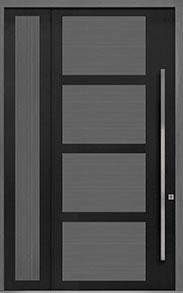 Custom Pivot Front  Door Example, Aluminum-Clad-and-Oak-Gray-Oak DB-PVT-825 SLS20 48x108