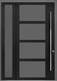Custom Pivot Front  Door Example, Aluminum-Clad-and-Oak-Gray-Oak DB-PVT-825 SLS20 48x96