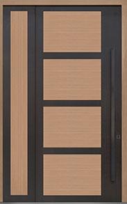 Custom Pivot Front  Door Example, Aluminum-Clad-and-Oak-Light-Loft DB-PVT-825 SLS20 48x108