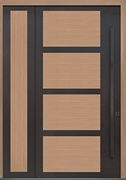 Custom Pivot Front  Door Example, Aluminum-Clad-and-Oak-Light-Loft DB-PVT-825 SLS20 48x96
