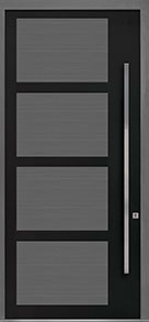 Custom Pivot Front  Door Example, Aluminum-Clad-and-Oak-Gray-Oak DB-PVT-825 48x108