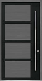 Custom Pivot Front  Door Example, Aluminum-Clad-and-Oak-Gray-Oak DB-PVT-825 48x96