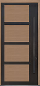 Custom Pivot Front  Door Example, Aluminum-Clad-and-Oak-Light-Loft DB-PVT-825 48x108