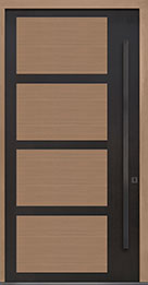 Custom Pivot Front  Door Example, Aluminum-Clad-and-Oak-Light-Loft DB-PVT-825 48x96
