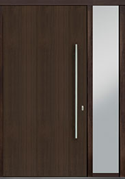 Custom Pivot Front  Door Example, Mahogany Wood Veneer-Walnut DB-PVT-A1 1SL18 48x96
