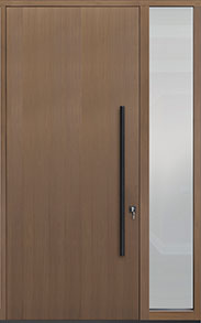 Custom Pivot Front  Door Example, Oak Wood Veneer-Light-Loft DB-PVT-A1 1SL18 48x108