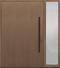 Custom Pivot Front  Door Example, Oak Wood Veneer-Light-Loft DB-PVT-A1 1SL24 60x96