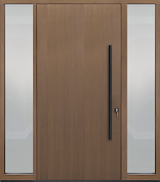 Custom Pivot Front  Door Example, Oak Wood Veneer-Light-Loft DB-PVT-A1 2SL18 48x96
