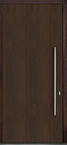 Custom Pivot Front  Door Example, Mahogany Wood Veneer-Walnut DB-PVT-A1 48x108