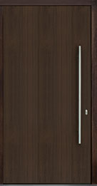 Custom Pivot Front  Door Example, Mahogany Wood Veneer-Walnut DB-PVT-A1 48x96