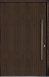 Custom Pivot Front  Door Example, Mahogany Wood Veneer-Walnut DB-PVT-A1 60x96
