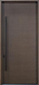 Custom Pivot Front  Door Example, Oak-Wood-Veneer-Chocolate DB-PVT-A1 CST