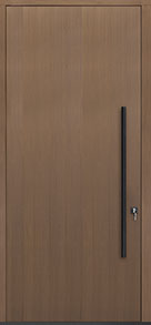 Custom Pivot Front  Door Example, Oak Wood Veneer-Light-Loft DB-PVT-A1 48x108