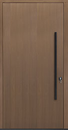 Custom Pivot Front  Door Example, Oak Wood Veneer-Light-Loft DB-PVT-A1 48x96