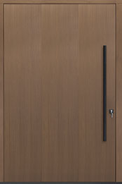 Custom Pivot Front  Door Example, Oak Wood Veneer-Light-Loft DB-PVT-A1 60x96