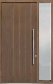 Custom Pivot Front  Door Example, Oak-Wood-Veneer-Light-Loft DB-PVT-A2 1SL18 48x108