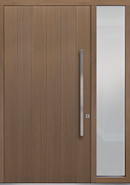 Custom Pivot Front  Door Example, Oak Wood Veneer-Light-Loft DB-PVT-A2 1SL18 48x96