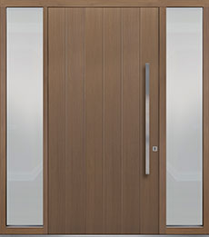 Custom Pivot Front  Door Example, Oak Wood Veneer-Light-Loft DB-PVT-A2 2SL18 48x96