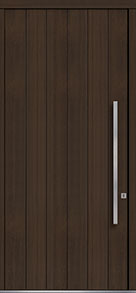 Custom Pivot Front  Door Example, Mahogany Wood Veneer-Walnut DB-PVT-A2 48x108