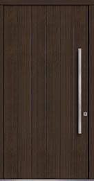 Custom Pivot Front  Door Example, Mahogany Wood Veneer-Walnut DB-PVT-A2 48x96