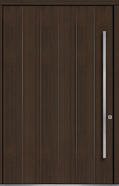 Custom Pivot Front  Door Example, Mahogany Wood Veneer-Walnut DB-PVT-A2 60x96