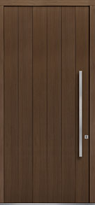 Custom Pivot Front  Door Example, Oak Wood Veneer-Earth DB-PVT-A2 48x108