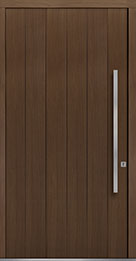 Custom Pivot Front  Door Example, Oak Wood Veneer-Earth DB-PVT-A2 48x96