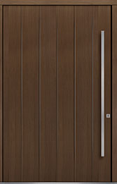Custom Pivot Front  Door Example, Oak Wood Veneer-Earth DB-PVT-A2 60x96