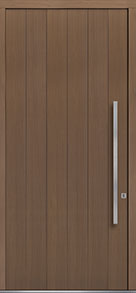 Custom Pivot Front  Door Example, Oak Wood Veneer-Light-Loft DB-PVT-A2 48x108
