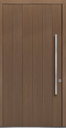Custom Pivot Front  Door Example, Oak Wood Veneer-Light-Loft DB-PVT-A2 48x96
