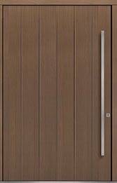 Custom Pivot Front  Door Example, Oak Wood Veneer-Light-Loft DB-PVT-A2 60x96