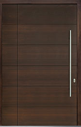 Custom Pivot Front  Door Example, Mahogany Wood Veneer-Walnut DB-PVT-A4 SLS14 48x96