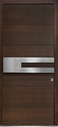 Custom Pivot Front  Door Example, Mahogany Wood Veneer-Walnut DB-PVT-A4 42x96